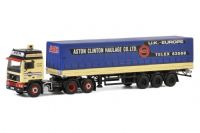 WSI Aston Clinton Haulage Volvo F12 6X2 Tag Axle with Curtainside Trailer